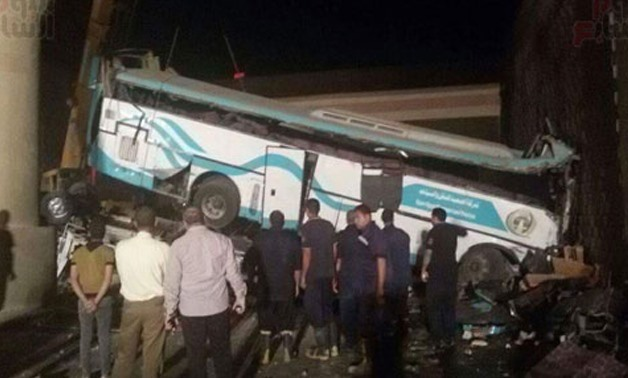 14 dead and 42 injured in bus crash on Beni Suef-Cairo road - File Photo