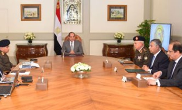 Sisi receives a comprehensive report on security status on Sinai, December 20, 2017 – Egypt Today