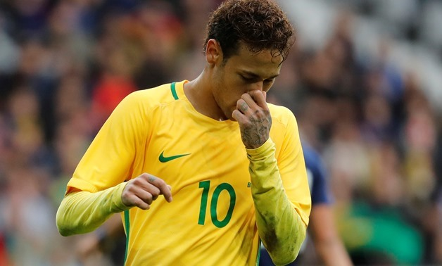 Soccer Football - International Friendly - Brazil vs Japan - Stade Pierre-Mauroy, Lille, France - November 10, 2017 Brazil's Neymar reacts - REUTERS/Yves Herman