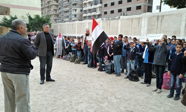 FILE -Students at Egyptian school