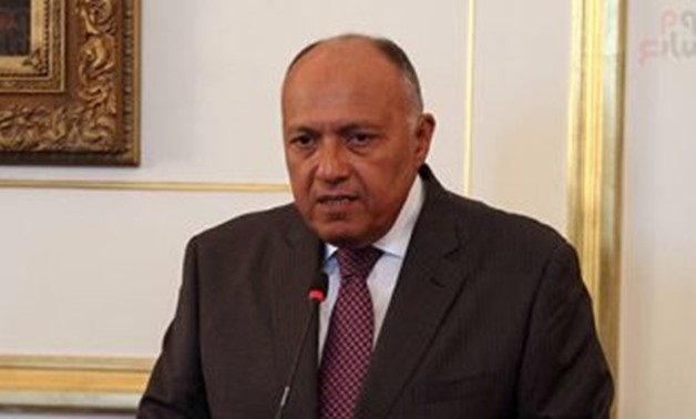 File – Egyptian Minister of Foreign Affairs Sameh Shoukry
