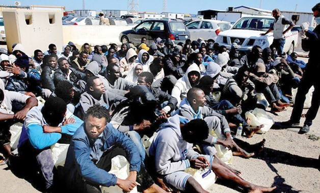Human trafficking market in Libya PHOTO: AFP