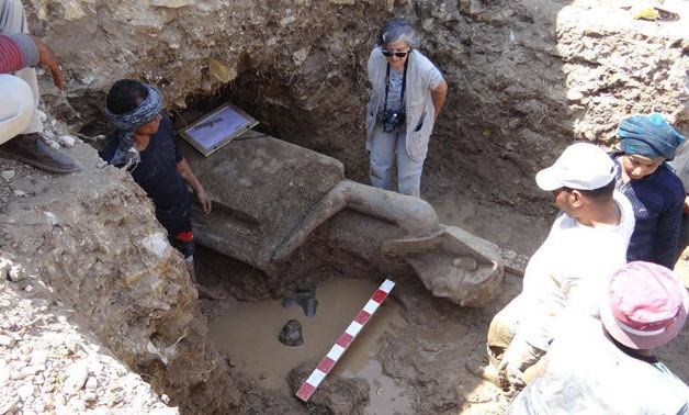 New discovery at King Amenhotep III's temple area - press photo