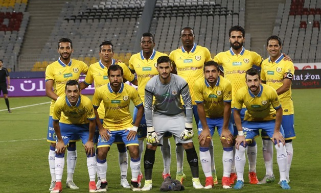 Ismaily players pose ahead of their game against Al Ahly, November  20, 2007 – Egypt Today/Karim Abdel Aziz
