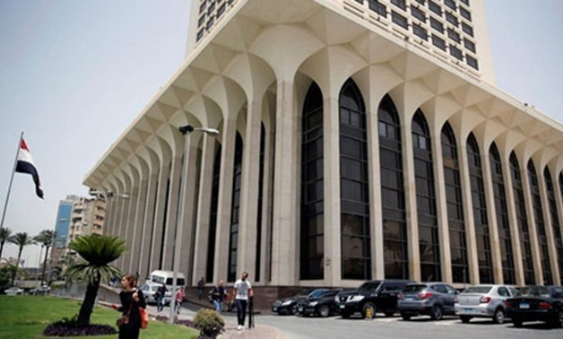File - The Egyptian Foreign Ministry in Cairo