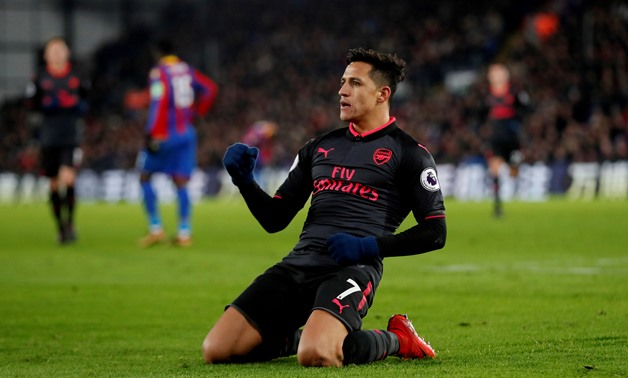 Soccer Football - Premier League - Crystal Palace vs Arsenal - Selhurst Park, London, Britain - December 28, 2017 Arsenal's Alexis Sanchez celebrates scoring their third goal Action Images via Reuters/Matthew Childs