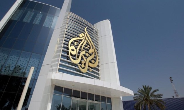 The Al Jazeera Media Network logo is seen on its headquarters building in Doha, Qatar June 8, 2017. REUTERS/Naseem Zeitoon