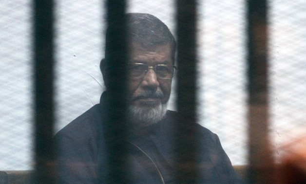 Former President Mohamed Morsi in jail during the prison break trial on February 26, 2017- Egypt Today/Ahmed Maarouf