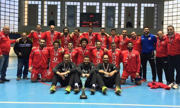 Al Ahly players pose after winning the title, December  30, 2017 –  Al Ahly official website