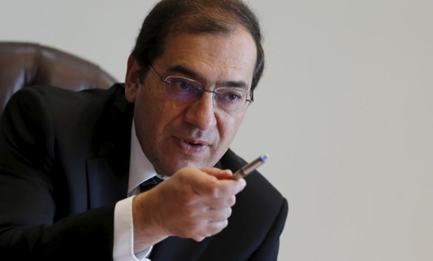 Tarek El Molla, Egypt's Minister of Petroleum and Mineral Resources speaks during an interview with Reuters at his office in Cairo, Egypt, October 29, 2015.