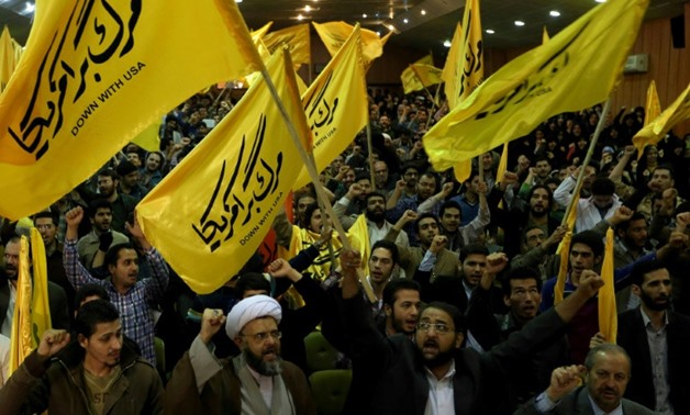 FILE: The Iranian regime has tens of thousands of hardline supporters that it can turn out on the streets for a show of strength when protests threaten - ATTA KENARE / AFP