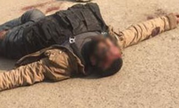 Helwan church attacker was shot down after he opened fire at police personnel and civilians – screenshot of a video circulated on the social media