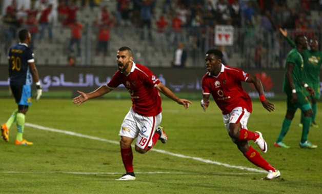 Ahly's Abdallah El Said celebrates a goal during a CAF Champions League game, April 4, 2016 – Reuters