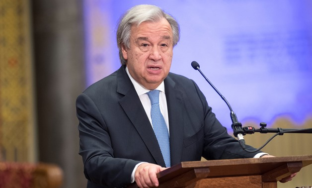 U.N. Secretary General Antonio Guterres speaks during the ceremony marking the closure of the U.N. tribunal for the former Yugoslavia in The Hague, Netherlands December 21, 2017. REUTERS/Toussaint Kluiters/United Photos