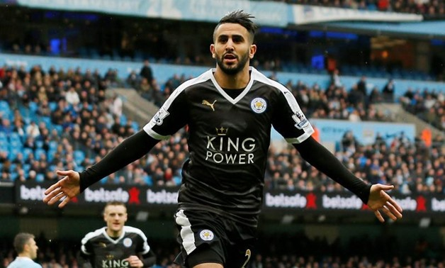 Etihad Stadium - 6/2/16 Leicester City's Riyad Mahrez celebrates scoring their second goal Action Images via Reuters / Jason Cairnduff Livepic