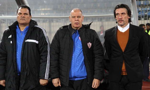 Nebojša and his assistants ahead of El Gaish Game on January 3, 2017, Egypt Today, Amr Mostafa
