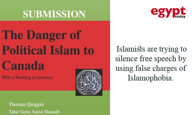 """""""The Danger of Political Islam to Canada"""" book cover – Photo courtesy of Amazon/Photo compiled by Egypt Today"""