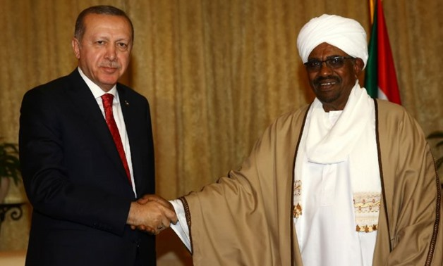 Sudanese President Omar Al-Bashir and Turkish counterpart Recep Tayyip Erdogan in Khartoum – AFP Photo