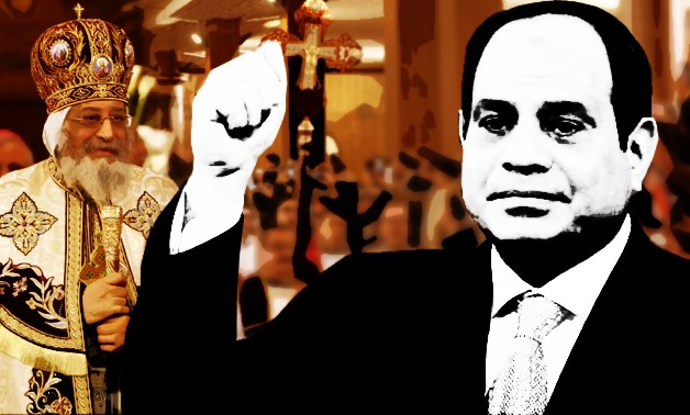 President Abdel Fatah al-Sisi made an appearance in a show of solidarity with Christians and to pay his respects to the ancient community – Photo illustrated by Egypt Today/Mohamed Zain