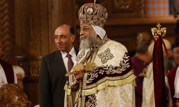 Pope Tawadros II leads the Christmas mass in the new Administrative Capital – Egypt Today