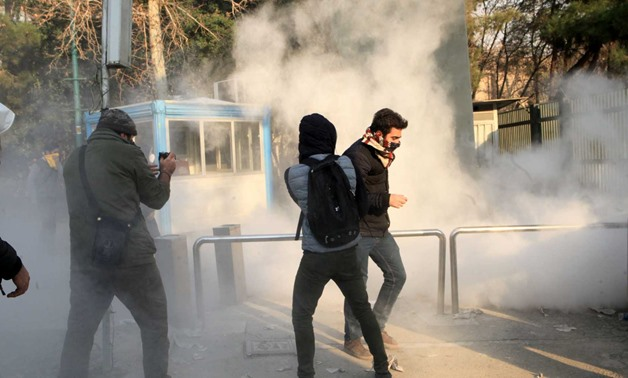 Iranian protesters in Tehran on January 1, 2018 - AFP/Ryan Saavedra