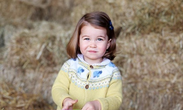 FILE PHOTO - Britain's Princess Charlotte is seen in this undated handout photograph, taken at Anmer Hall in Norfolk, and released by Prince Willam and Catherine, Duchess of Cambridge in London on May 1, 2017. Catherine, Duchess of Cambridge/Kensington Pa