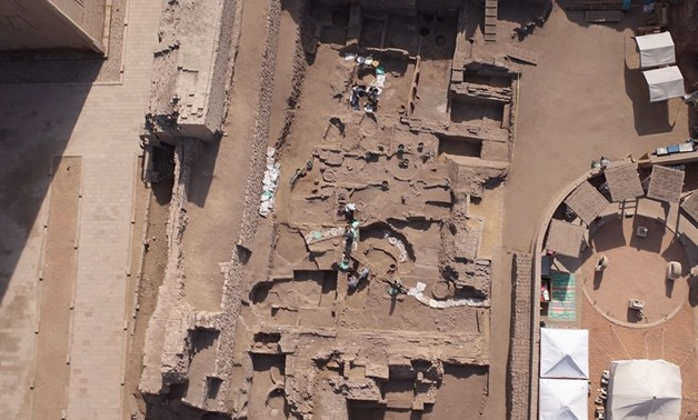 The unearthed administrative complex – Photo courtesy of the Ministry of Antiquities