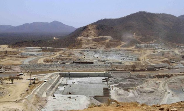 FILE- A general view shows construction activity on the Grand Renaissance dam in Guba Woreda, Benishangul Gumuz region in this March 16, 2014 file photo. REUTERS/Tiksa Negeri/Files