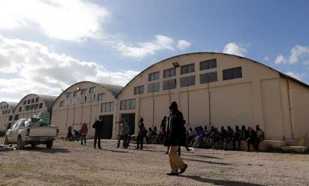 Migrants are seen at a detention centre run by the Interior Ministry of Libya's eastern-based government, in Benghazi, Libya January 11, 2018 - Reuters