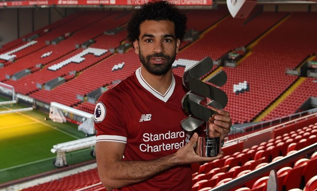 Mohamed Salah with the award – Courtesy of Liverpool's official website