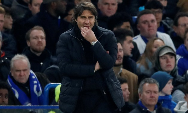 Soccer Football - Carabao Cup Semi Final First Leg - Chelsea vs Arsenal - Stamford Bridge, London, Britain - January 10, 2018 Chelsea manager Antonio Conte REUTERS/David Klein