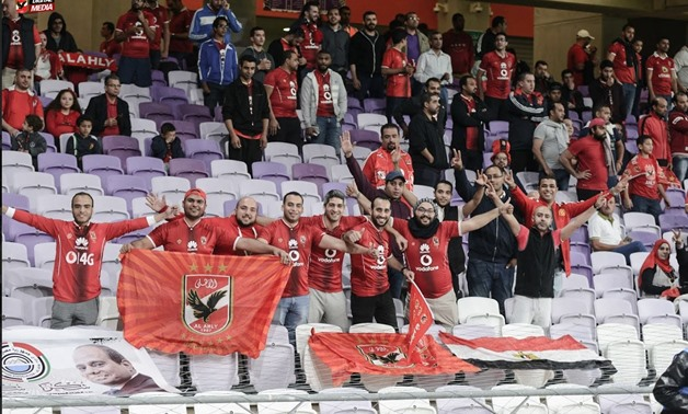 Al Ahly fans celebrate winning the Super Cup, Jan, 12, 2018 - Al Ahly Officiial Twitter