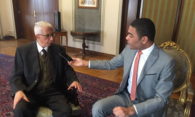 Egypt Today reporter interviews Deputy Foreign Minister for African Affairs, Ambassador Hamdy Louza at his office-  Photo courtesy of Louza's media office.