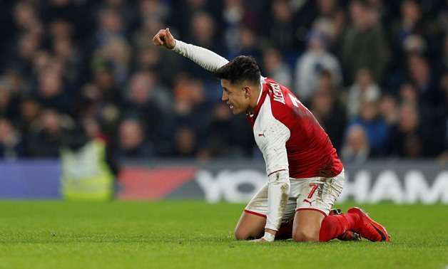 Soccer Football - Carabao Cup Semi Final First Leg - Chelsea vs Arsenal - Stamford Bridge, London, Britain - January 10, 2018 Arsenal's Alexis Sanchez reacts Action Images via Reuters/John Sibley
