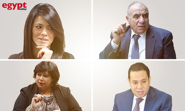 The newly appointed ministers in Sherif Ismail's cabinet-Collage by Egypt Today/Ahmed Hussein