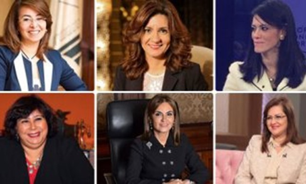 The female ministers in Sherif Ismail's cabinet