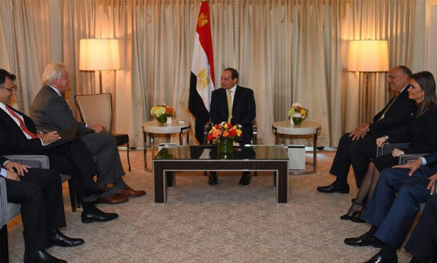 Sisi meets with General Electric CEO in Washington - press photo/Sherif Abdel Moneim