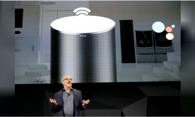 Scott Huffman, Google Assistant vice president of engineering, speaks during an LG news conference at the 2018 CES in Las Vegas, Nevada, U.S. January 8, 2018. Via REUTERS/Steve Marcus