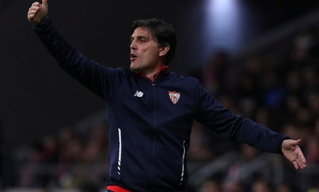 Soccer Football - Spanish King's Cup - Atletico Madrid vs Sevilla - Quarter-Final - First Leg - Wanda Metropolitano, Madrid, Spain - January 17, 2018 Sevilla coach Vincenzo Montella REUTERS/Sergio Perez