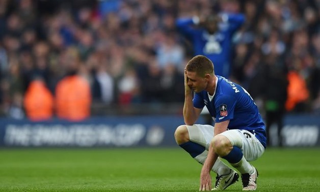 Football Soccer - Everton v Manchester United - FA Cup Semi Final - Wembley Stadium - 23/4/16 Everton's James McCarthy looks dejected after Manchester United's second goal Action Images via Reuters / Andrew Couldridge