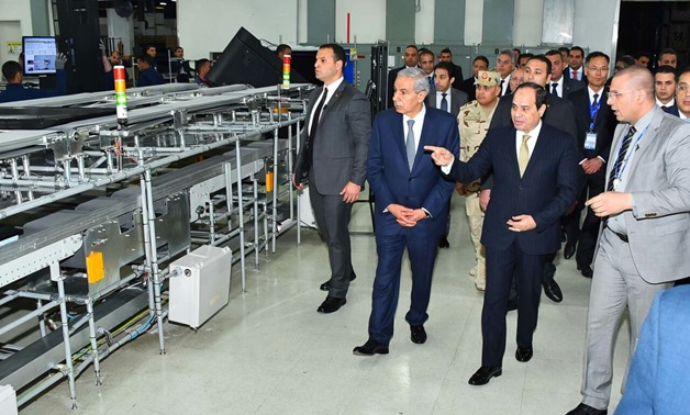 President Abdel Fatah al-Sisi inaugurates projects in Sohag and Beni Suef governorates on Jan. 21, 2018