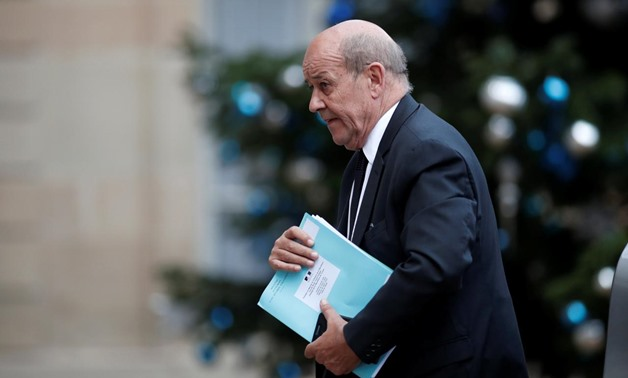 French Foreign Affairs Minister Jean-Yves Le Drian arrives at the Elysee Palace in Paris, France, January 5, 2018. REUTERS/Benoit Tessier