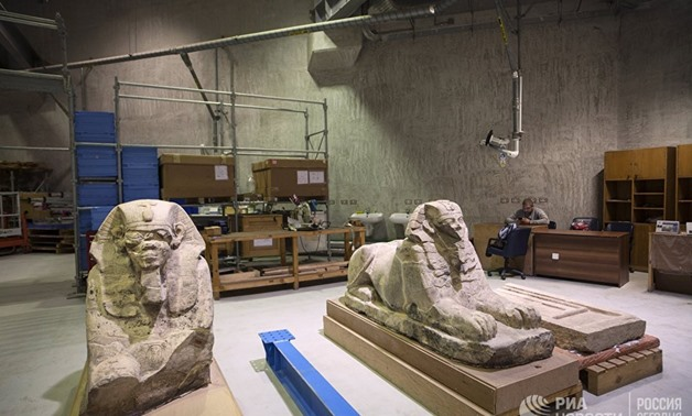 Workshop restoration of the Great Egyptian Museum in Giza, Tuesday, January 9, 2018 – RIA News/ Ksenia Nikolskaya
