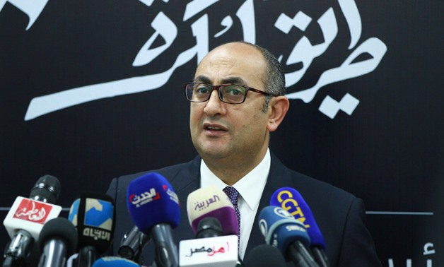 FILE - Lawyer Khaled Ali during a press conference on January 11, 2018 - Egypt Today/ Hussein Tallal