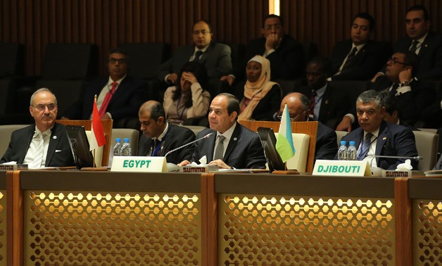 FILE - President Abdel Fatah al-Sisi participated in the opening session of the fourth Arab-Africa Summit, which was held in the capital of Equatorial Guinea, Malabo on November 24, 2016- Press photo