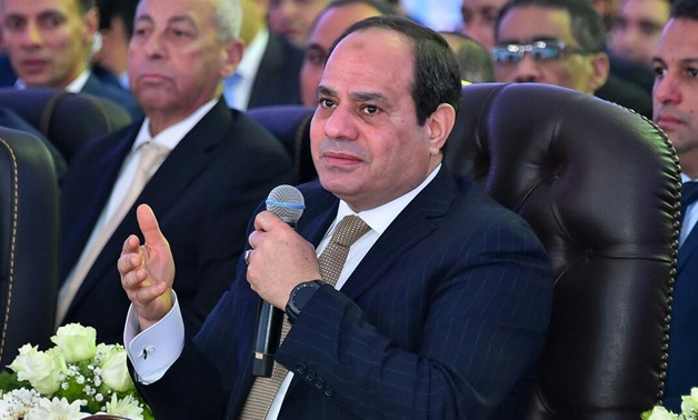FILE: President Sisi during the inauguration of development projects in Beni Suef on January 21, 2018