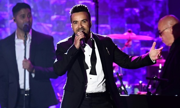 "Puerto Rican Singer Luis Fonsi performs his song ""Despacito"" during the traditional Clive Davis party on the eve of the 60th Annual Grammy Awards on January 28, 2018, where rapper Jay-Z was guest of honor - AFP"