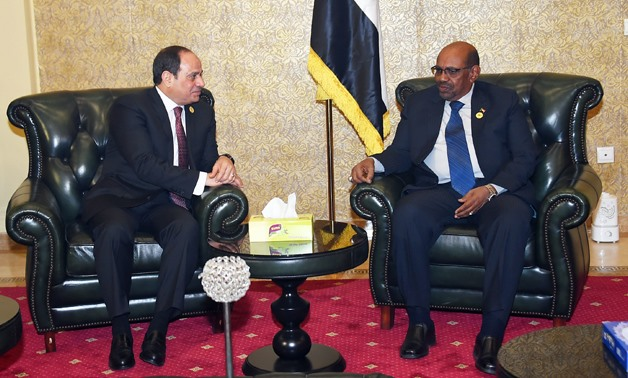 President Abdel Fatah al-Sisi (L) and Sudanese President Omar al-Beshir had held a meeting on January 28, 2018, before the 30th African Union (AU) Summit kicked off in the Ethiopian capital Addis Ababa – Press Photo