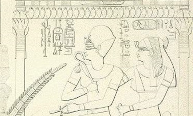 A scene from the tomb of Ra for Queen Merytre-Hatshepsut, and        her son King Amenhotep II – Photo Courtesy of Wikipedia