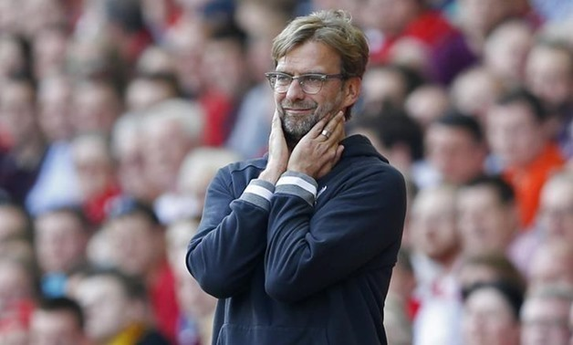 Britain Soccer Football – Liverpool vs. Watford – Barclays Premier League – Anfield – May 8, 2016, Liverpool manager Juergen Klopp before the match – Action Images – Reuters/Carl Recine